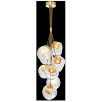 Fine Art Lamps 899740-210AB Nest 8 Light 16 inch Gold Pendant Ceiling Light