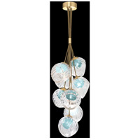 Fine Art Lamps 899740-210AQ Nest 8 Light 16 inch Gold Pendant Ceiling Light