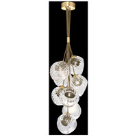 Fine Art Lamps 899740-210SQ Nest 8 Light 16 inch Gold Pendant Ceiling Light