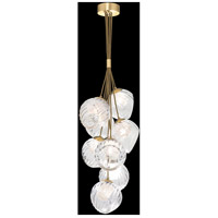 Fine Art Lamps 899740-29CL Nest 8 Light 16 inch Gold Pendant Ceiling Light
