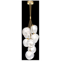 Fine Art Lamps 899740-29WH Nest 8 Light 16 inch Gold Pendant Ceiling Light
