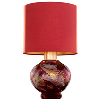 Fine Art Lamps 899910-55ST SoBe 20 inch 100 watt Gold Table Lamp Portable Light