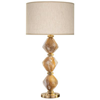 Fine Art Lamps 900010-22ST SoBe 31 inch 100 watt Brass Table Lamp Portable Light
