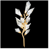 Fine Art Lamps 902250-2ST Foret 3 Light 12 inch Gold Sconce Wall Light