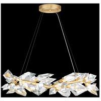 Fine Art Lamps 902640-2ST Foret 8 Light 34 inch Gold Pendant Ceiling Light