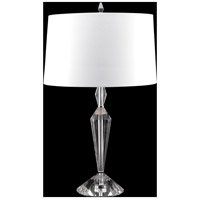 Fine Art Lamps 905610ST Crystal Lamps 28 inch 150 watt Nickel Table Lamp Portable Light