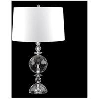 Fine Art Lamps 905810ST Crystal Lamps 28 inch 150 watt Nickel Table Lamp Portable Light