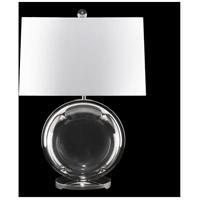 Fine Art Lamps 905910ST Crystal Lamps 28 inch 150 watt Nickel Table Lamp Portable Light