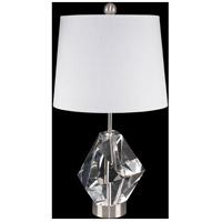 Fine Art Lamps 907310ST Crystal Lamps 25 inch 150 watt Nickel Table Lamp Portable Light