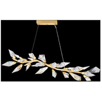 Fine Art Lamps 908340-2ST Foret 6 Light 11 inch Gold Pendant Ceiling Light