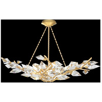 Fine Art Lamps 909040-2ST Foret 6 Light 47 inch Gold Pendant Ceiling Light