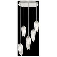 Fine Art Lamps 911540-1ST Las Olas 5 Light 25 inch Silver Pendant Ceiling Light