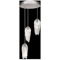 Fine Art Lamps 911840-1ST Las Olas 3 Light 18 inch Silver Pendant Ceiling Light