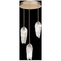 Fine Art Lamps 911840-2ST Las Olas 3 Light 18 inch Gold Pendant Ceiling Light