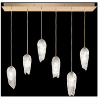 Fine Art Lamps 912040-2ST Las Olas 6 Light 12 inch Gold Pendant Ceiling Light