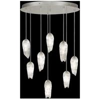 Fine Art Lamps 912140-1ST Las Olas 8 Light 32 inch Silver Pendant Ceiling Light