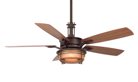 Fanimation Andover Indoor Ceiling Fan in Oil-Rubbed Bronze with Cherry/Walnut Blades FP5220OB photo