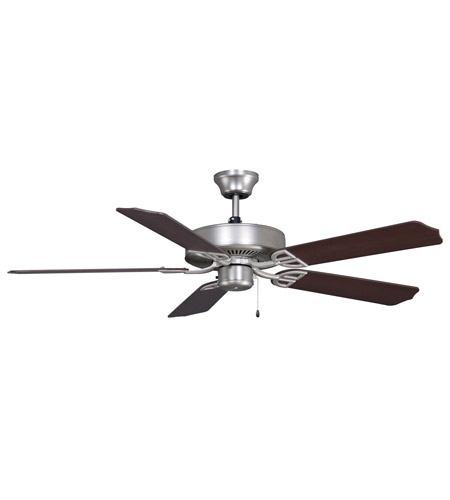 Fanimation BP200SN1 Aire Decor 52 inch Satin Nickel with Cherry/Walnut Blades Ceiling Fan in 110 Volts photo