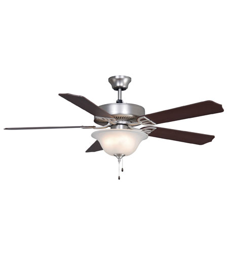 Fanimation Aire Decor Builder Series Indoor Ceiling Fan in Satin Nickel with Cherry/Walnut Blades BP220SN photo