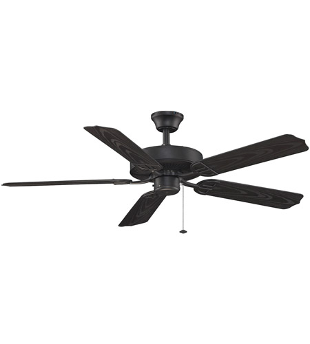 Fanimation Aire Decor Builder Series Indoor Ceiling Fan in Black with Black Blades BP230BL1 photo