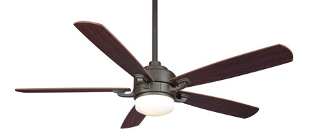 Fanimation Benito Indoor Ceiling Fan in Oil-Rubbed Bronze with Walnut/Mahogany Blades 220v FP8003OB-220 photo