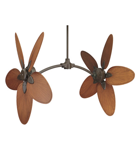 Fanimation CABPP4BR Caruso Brown 22 inch Set of 10 Fan Blade in Composite Palm Brown/Red photo