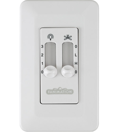 Fanimation CW6WH Signature White Wall Control, Non-Reversing photo