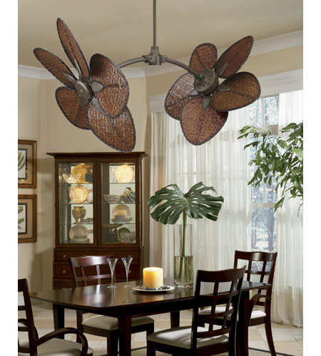 Fanimation ISD2A Bamboo Antique Woven Bamboo 18 inch Set of 5 Fan Blades photo