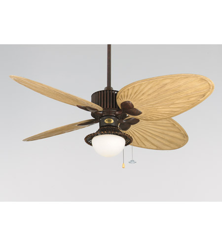 Fanimation Signature Fan Light Kit in Antique Finish Bamboo/White Frosted Glass LK112A photo