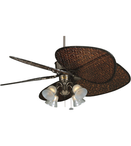 Fanimation Traditional Fitter Fan Light Kit in Rust F404RS photo