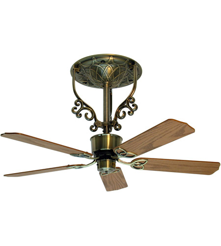 Fanimation FP410AB-220 Americana 17 inch Antique Brass Ceiling Fan in 220 Volts, Motor Only photo