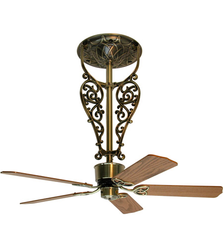Fanimation FP420AB Americana 17 inch Antique Brass Ceiling Fan, Motor Only photo