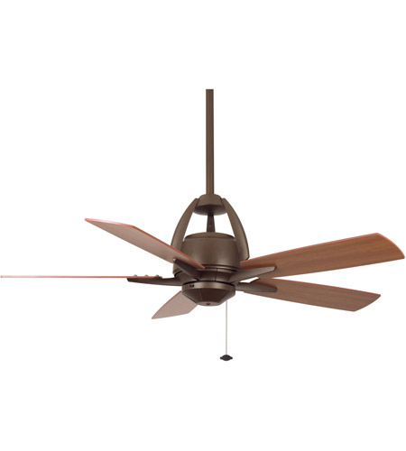 Fanimation Huxley Indoor Ceiling Fan in Oil-Rubbed Bronze with Cherry/Walnut Blades FP5620OB photo