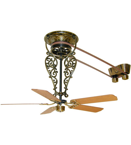 Fanimation FP580AB-18-L1 Bourbon Street Antique Brass with Oak/Walnut Blades Ceiling Fan, Motor Only  photo