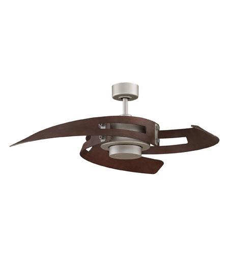 Fanimation Avaston Indoor Ceiling Fan in Satin Nickel with Walnut Blades FP6210SN photo