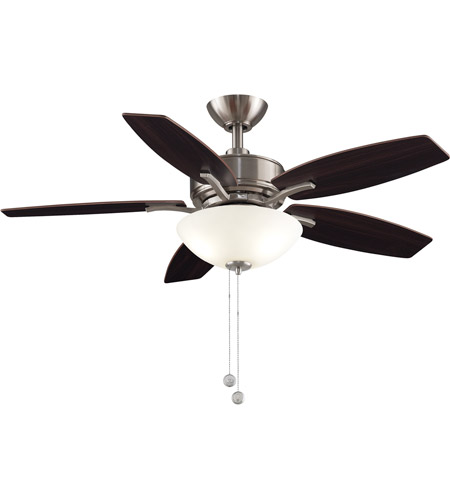 Fanimation FP6245BBN Aire Deluxe 44 inch Brushed Nickel with Cherry/Dark Walnut Blades Indoor/Outdoor Ceiling Fan photo