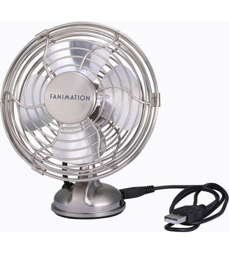 Fanimation FP6252BN Mini Breeze Brushed Nickel 6 inch USB Fan photo