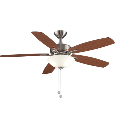 Fanimation FP6285BBN Aire Deluxe 52 inch Brushed Nickel with Cherry/Dark Walnut Blades Indoor/Outdoor Ceiling Fan photo thumbnail