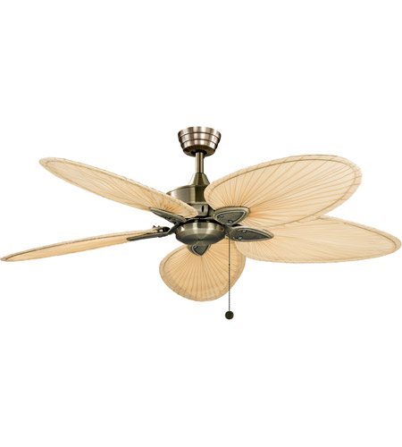 Fanimation FP7500AB Windpointe 10 inch Antique Brass Nanrrow Oval Natural Palm Ceiling Fan in 110 Volts, Narrow Oval Natural Palm photo