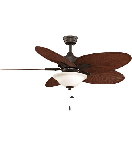 Fanimation Windpointe Indoor Ceiling Fan in Oil-Rubbed Bronze with Red Brown Blades FP7500OBP4LK photo