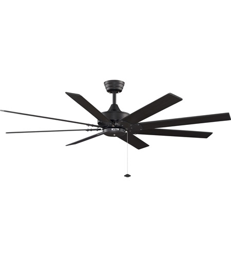 Fanimation Levon 63in 8-Blade Indoor Ceiling Fan in Black FP7910BL photo