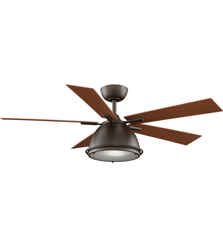 Fanimation Breckenfield Indoor Ceiling Fan in Oil-Rubbed Bronze with Walnut Blades FP7951OB photo
