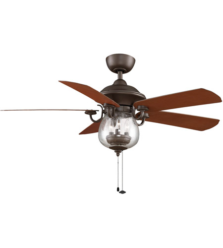 Fanimation FP7954OB Crestford 52 inch Oil-Rubbed Bronze with Cherry/Walnut Blades Ceiling Fan photo