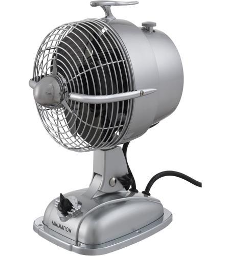Fanimation fp7958ss urbanjet sonic silver 12 inch table fan for 12 inch table fan
