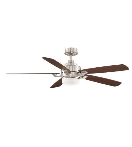 Fanimation FP8003BN Benito 8 inch Brushed Nickel with Cherry/Walnut Blades Ceiling Fan in 1, 110 Volts photo