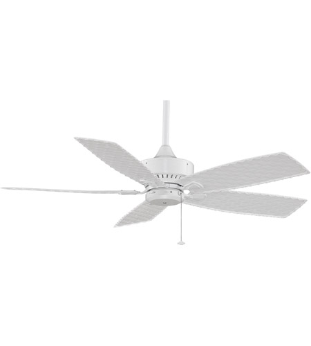Fanimation FP8012WH Cancun 52 inch White with White Woven Bamboo Blades Ceiling Fan photo