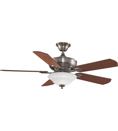Fanimation Camhaven Indoor Ceiling Fan in Pewter with Cherry/Walnut Blades FP8095PW photo