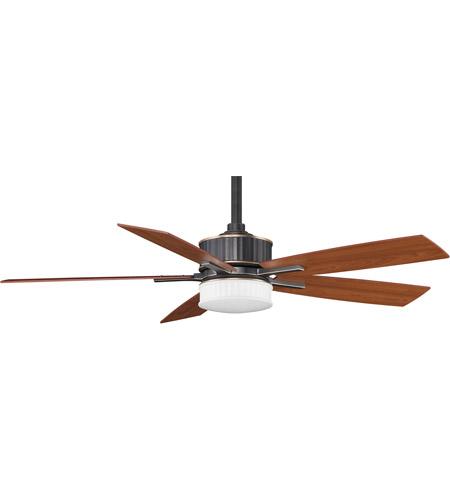 Fanimation Landan Indoor Ceiling Fan in Bronze Accent with Cherry/Walnut Blades FPD8087BA photo