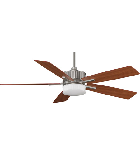 Fanimation Landan Indoor Ceiling Fan in Satin Nickel with Cherry/Maple Blades FPD8087SN photo