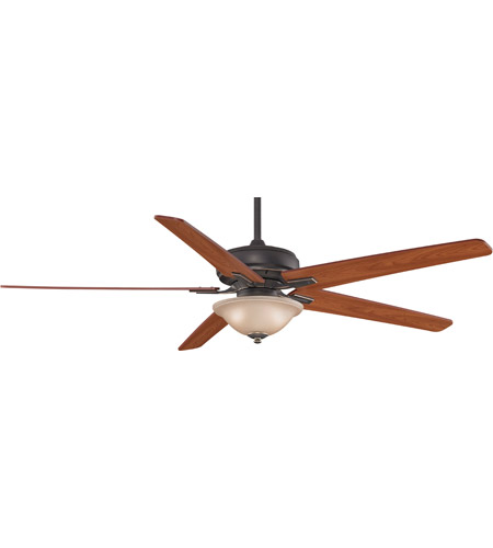 Fanimation Keistone Indoor Ceiling Fan in Bronze Accent with Cherry/Walnut Blades FPD8089BA photo